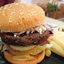 Lentil Mushroom Burger With Tahini Sauce ($11.90)