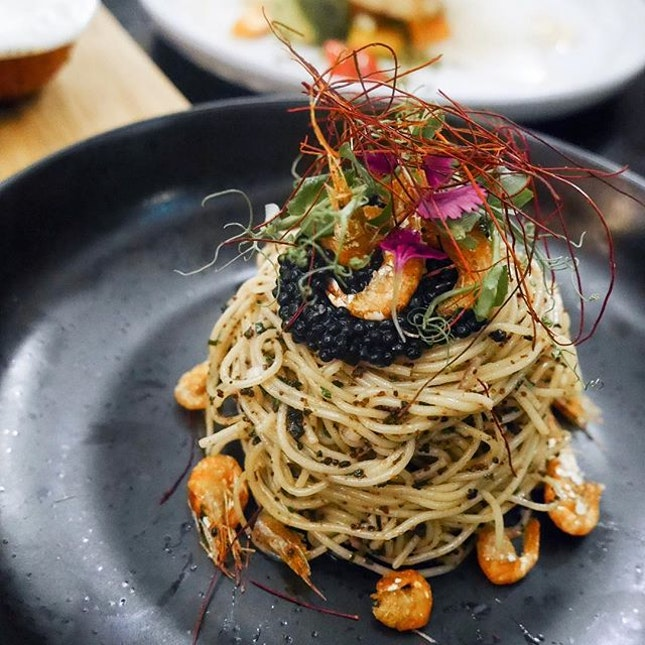 Chilled Truffle Angel Hair Pasta ($30)
