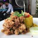 Deep Fried Garlic Pork with Pineapple Rice  ($10.50)