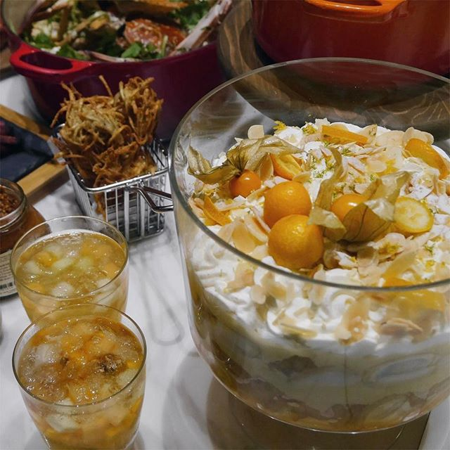 Persimmon Fruit Compote, a refreshing option as it consist of fresh and dried persimmon plus mandarin orange so you can have it on own after buffet.