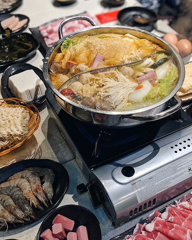 Hotpot on New Year Eve.