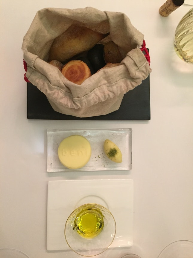 Breads With Butter And Olive Oil