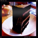 A very decadent Tall Order Chocolate Cake. Ooooh...