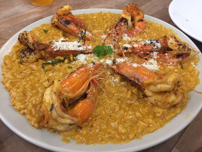 Curry Prawn Risotto