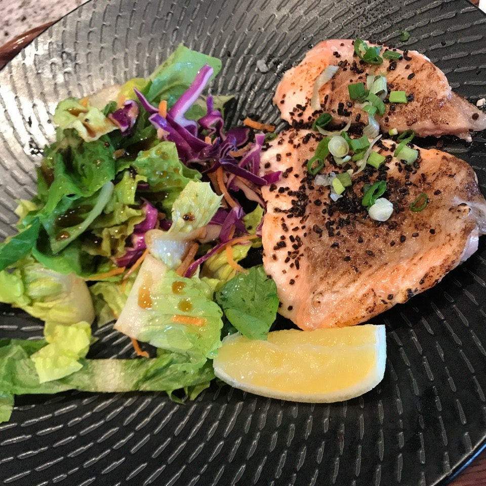 Sous Vide Salmon With Yuzu Salad