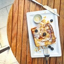 French toast was rather disappointing, what seemed like Sunshine bread with banana chunks and maple syrup.