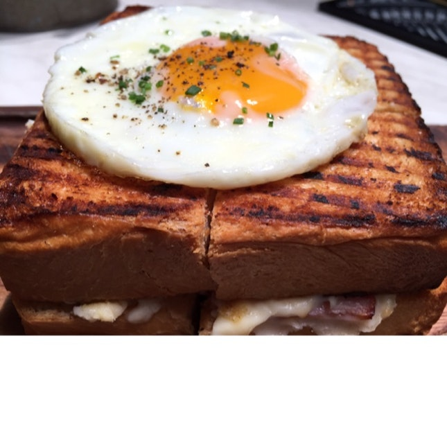Simple eye croque-madame, but it's very nice