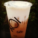 Black tea mochiatto!! <3 #tea # bubbletea #koi #taiwan #singapore #yummy