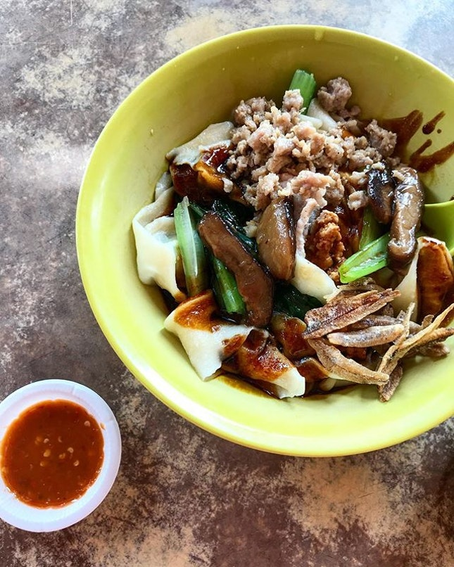 Flavourful dried pan mee is the key.