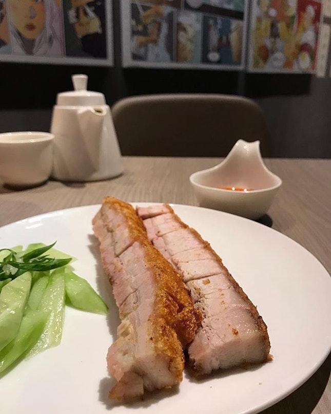Legit Siew yoke @hoyeahrestaurant , crispy skin, juicy meat.