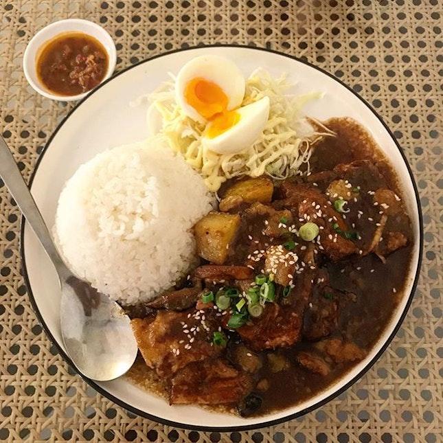Pong Teh Pork @kampungdining , reminds me of hakka yam stewed with pork.