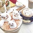 🐱🐸☕️👯 #macebycoffeechemistrysignature #coffeeart #sundaybrunchday #weekendaction