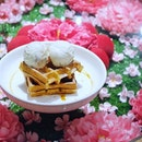CNY waffles 😜🌸🏮#mywhimsical #sweettreats