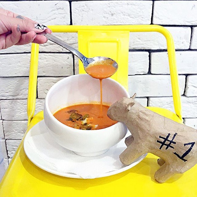 Roasted Roma Tomato Soup ($5.80) A reasonably Zen tomato soup, serve with diced goat cheese as well as homemade basil oil – rich and rustic in a modern setting.