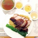 Roast Goose w/ Roast Pork on Braised Noodles (HKD64) What's better than letting yourself dig into a perfectly browned glistening crisp of plump succulent flesh?