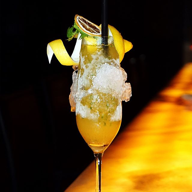 Da Bomb Cilantro Julep ($20) Mount Gay rum, lemoncello, sambal Andaluman Chili paste, simple syrup, fresh lemon & coriander.
