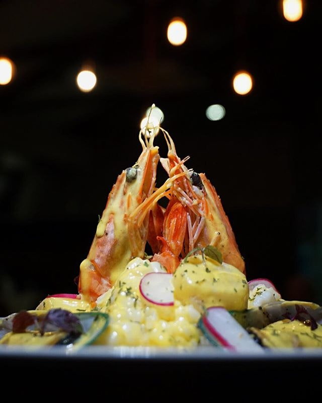 Seafood Risotto ($16.90) with fresh prawns, scallops, squid & mussels.