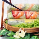 Colourful Summer Rolls ($4.90/pair or $7.30/3pcs) from @Pho_Street!
