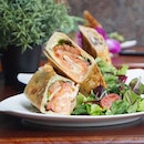 Smoked Salmon Wrap from @newsngossipsg because let's chill alone for awhile.