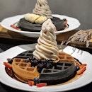 ❤️1-for-1 Bubble Milk Tea Soft Serve w/ Waffles & more?!?