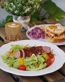 'Twas a peaceful weekend afternoon getaway with Smoked Duck Breast Salad w/ Honey Orange Dressing ($18.90) & Fat Otah Toast ($15.90) at @blackandink!