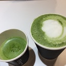 Hot Matcha And Matcha Latte