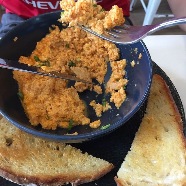 Chilli Crab Scrambled Eggs