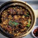 Orlulu (blackened) claypot rice....