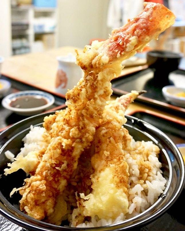 One of the best dish from Hokkaido trip, king crab tempura.