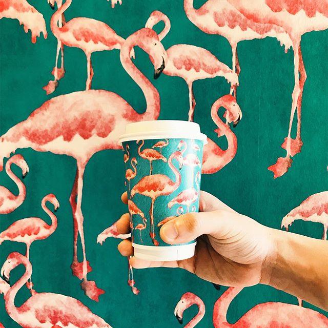 Coffee in pink - #hungryhungrymonster #burpple #bickyandbrew