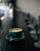 Green shot - Latte with a shot of matcha.