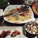 late night dins 🇰🇷🇰🇷🇰🇷 #igsg #sgig #vsco #vscoeats #vscosg #vscocam #kbbq #koreanbbq #burpple #sgfood #instafood