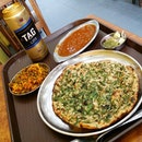 Pudina Paratha, Mutton Kheema, String Beans With Paneer Crumble, Tag Beer ($17.40) @ Jaggi's in Race Course Road.