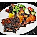 Iga Bakar (SGD $36) @ Badoque Cafe.