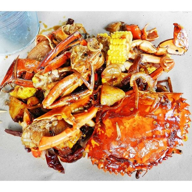 Crabs In Kung Pao Sauce (SGD $28 / 500g) @ Wholly Crab.