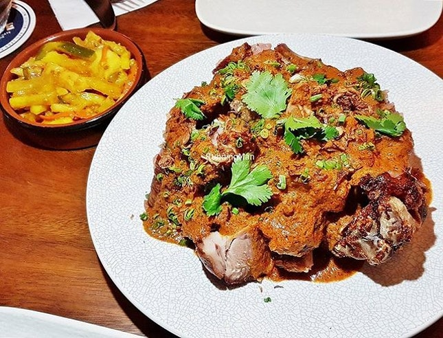 Curry Pork Knuckle With Achar (SGD $20) @ Wine & Chef.