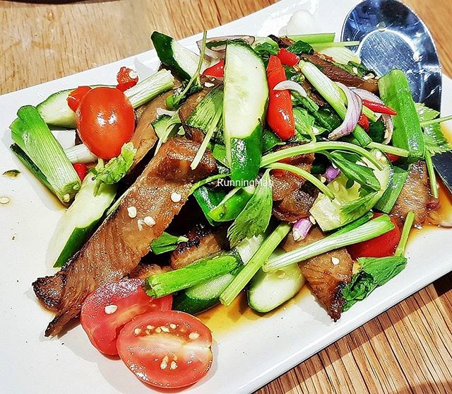 Grilled Pork Salad (SGD $22) @ Cha Thai.