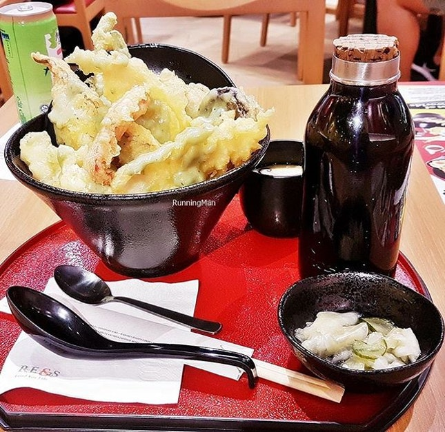 Tendon / Tempura Donburi (SGD $13.80) @ Tokyo Eater Pop-Up Store.