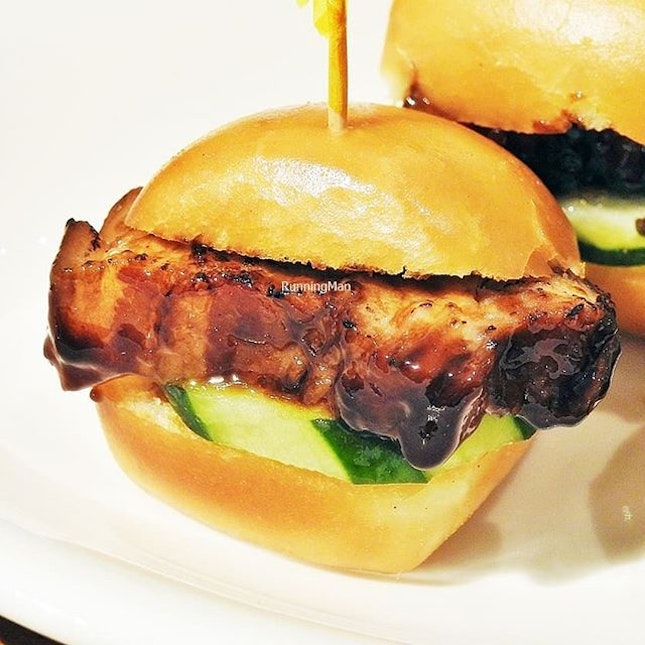 Signature Char Siew In Fried Mantou (SGD $5 / $12) @ One Bowl Restaurant & Bar.