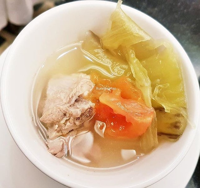 Kiam Chye Ark / Pickled Mustard Greens & Duck Soup (SGD $66.50 per pax buffet) @ Princess Terrace Cafe.