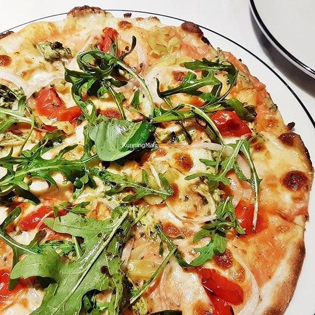 Pizza Genovese Di Pollo Pesto (SGD $21) @ PizzaExpress.