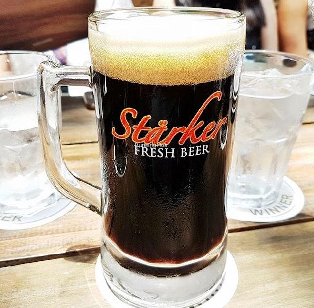Beer Starker Charcoal (SGD $16.90) @ Starker Bistro.