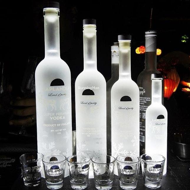 Laplandia Super Premium Vodka (SGD $75 for 500ml bottle) @ Oishii Kanpai 2018.