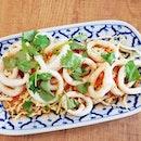 Squid With Lime Sauce (SGD $12) @ Soi Thai Kitchen.