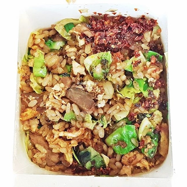Shanghai Chinese Fried Rice With Braised Beef And Brussels Sprouts (SGD $8.30) @ Wok Hey.