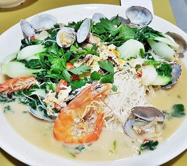 Prawn Lala White Bee Hoon (SGD $15) @ Don Signature Crab.