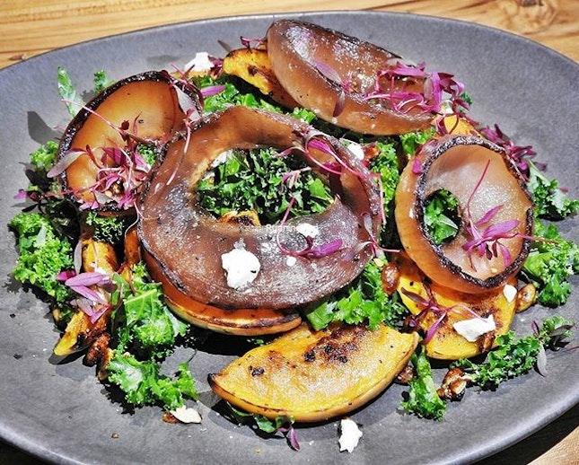 Pumpkin Kale Salad (SGD $18) @ Kafe Utu.