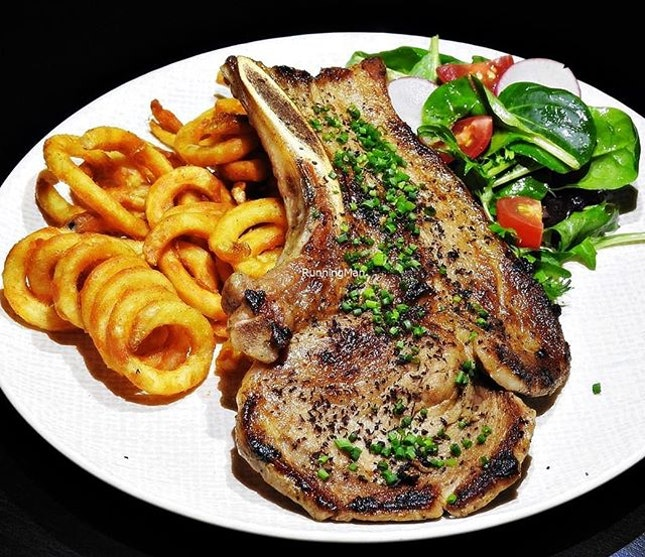 Kurobuta Bone-In Pork Chop (SGD $29) @ Rookery.