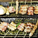 Assorted Grilled Pork Skewers (SGD $13.50) @ Hitoyoshi Ramen & Grill.