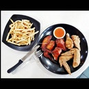 Chicken Wings & Fries (SGD $7) @ Golden Rooster / TenderFresh Classic.